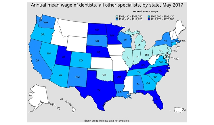 What Dentists Earn 2018 Edition Touro College Of Dental Medicine - Map-of-us-dental-schools