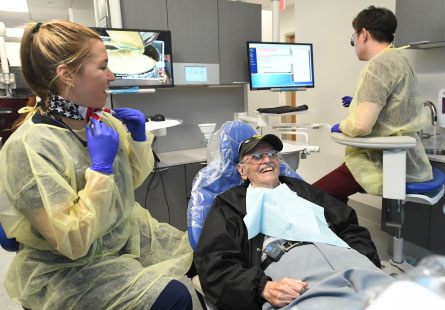 Dental students provide free dental care to Veterans