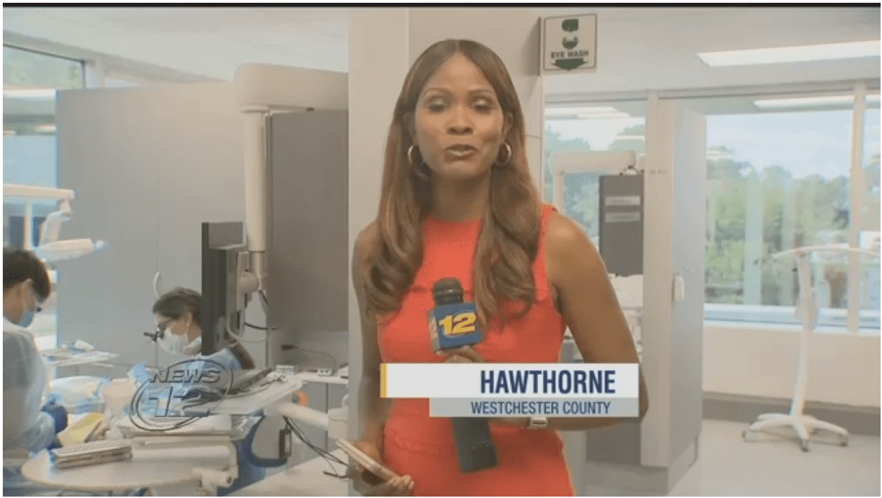 News 12 Westchester reports as TCDM 3rd year students\' start their clinical education.