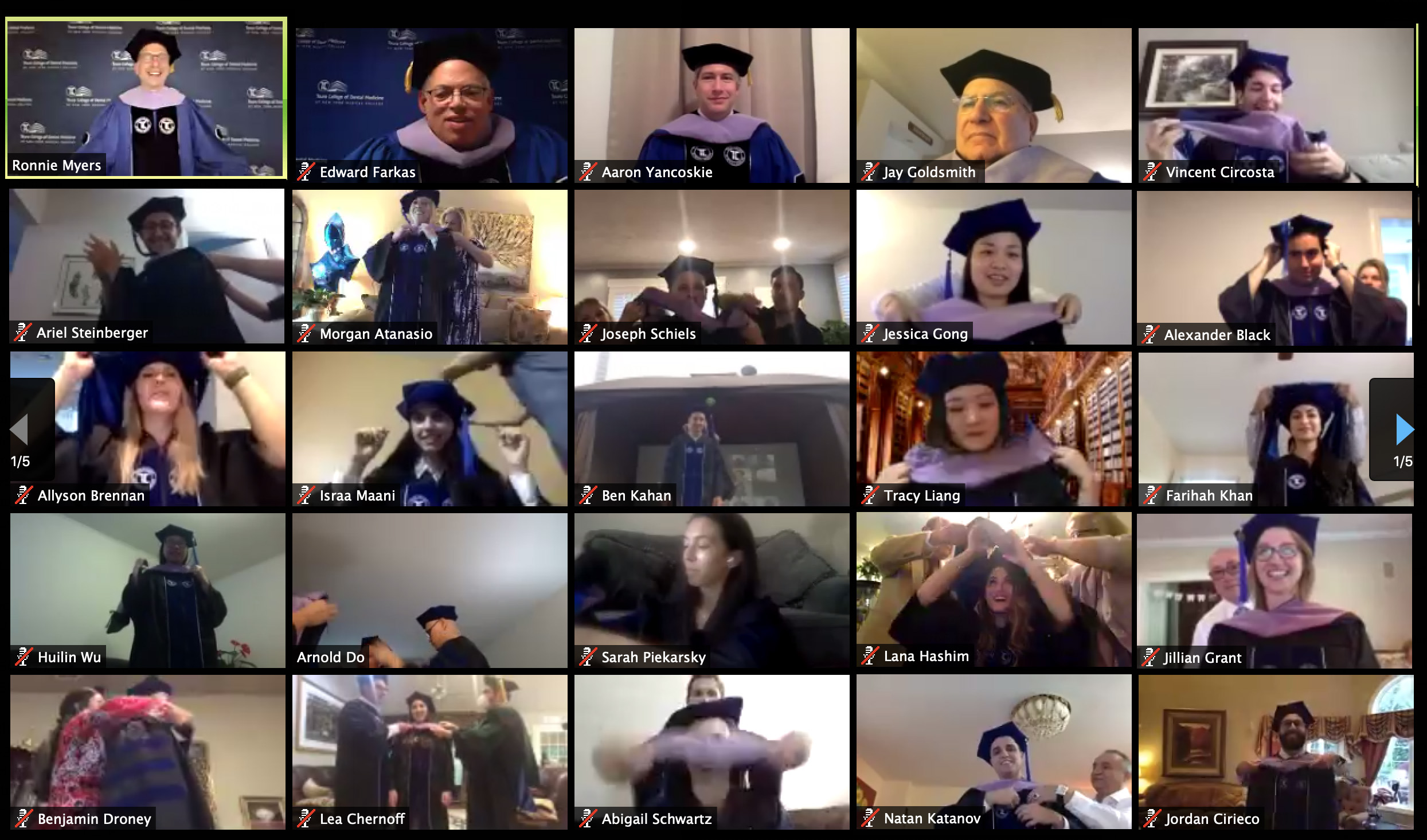 Graduates participated in a virtual hooding and awards ceremony